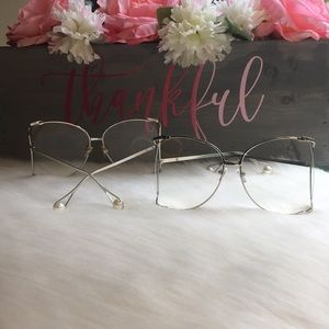 Accessories - 2 for $30 Clear Oversized Pearl Sunglasses